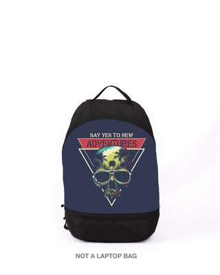 Shop Say Yes To New Adventures Small Backpack-Front