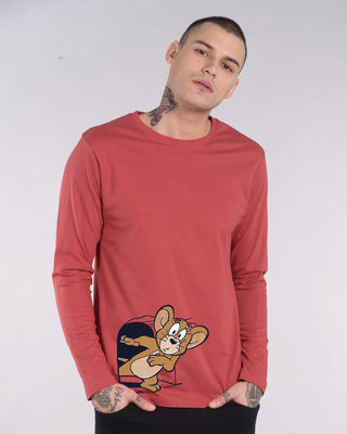 Shop Scared Jerry Full Sleeve T-Shirt (TJL)-Front