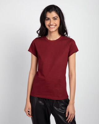 Shop Scarlet Red Half Sleeve T-shirt-Front