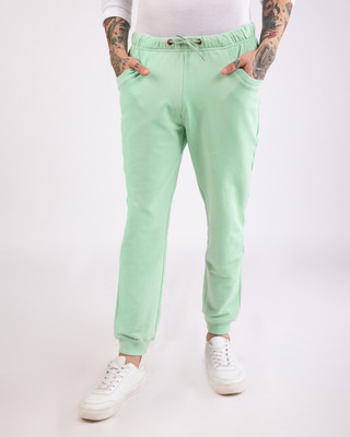 Shop Sea Green Casual Jogger Pants-Front