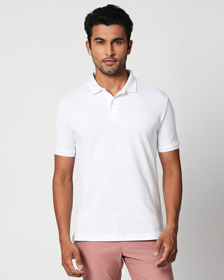 Shop Seashell White Classic Polo-Front