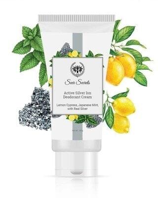 Shop Seer Secrets Lemon Cypress Japanese Mint Active Silver Ion Deodorant Cream Tube-Front