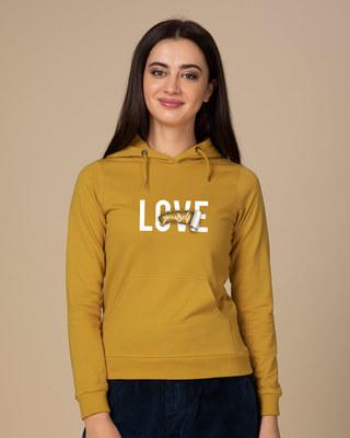 Shop Self Love Fleece Hoodies-Front