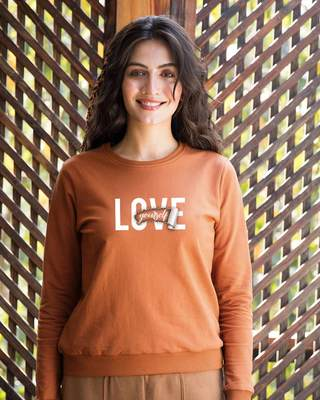 Shop Self love Fleece Sweater-Front