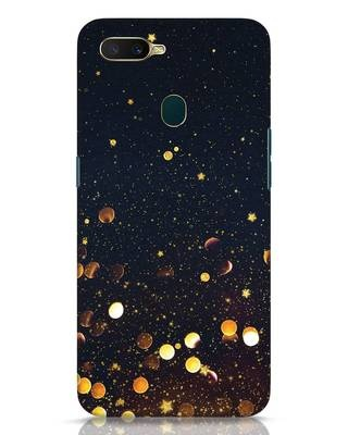 Shop Sequins Oppo A7 Mobile Cover-Front