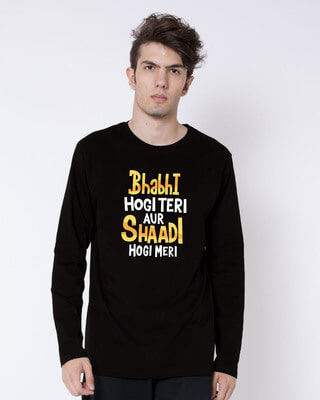 Shop Shadi Hogi Meri Full Sleeve T-Shirt-Front