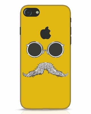 Shop Shady Moustache iPhone 7 Logo Cut Mobile Cover-Front