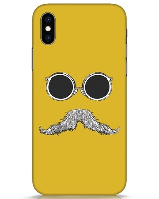 Shop Shady Moustache iPhone XS Mobile Cover-Front