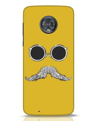 Shop Shady Moustache Moto G6 Mobile Cover-Front