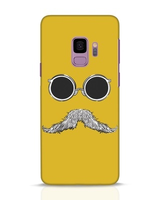 Shop Shady Moustache Samsung Galaxy S9 Mobile Cover-Front