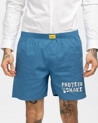 Shop Shake The Protein Side Printed Boxer-Front
