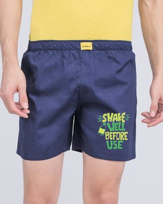 Shop Shake Well Before Use Side Printed Boxer-Front