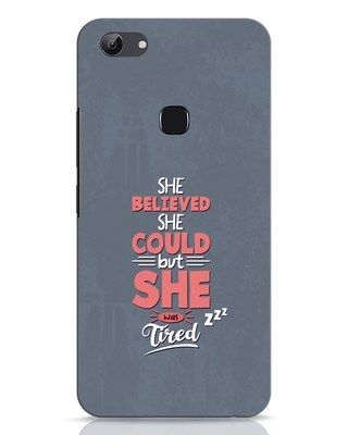 Shop She Was Tired Vivo Y83 Mobile Cover-Front