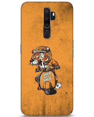 Shop Sher Aaya Sher Oppo A5 2020 Mobile Cover-Front