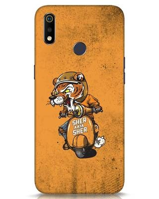 Shop Sher Aaya Sher Realme 3i Mobile Cover-Front