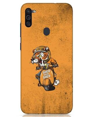 Shop Sher Aaya Sher Samsung Galaxy M11 Mobile Cover-Front