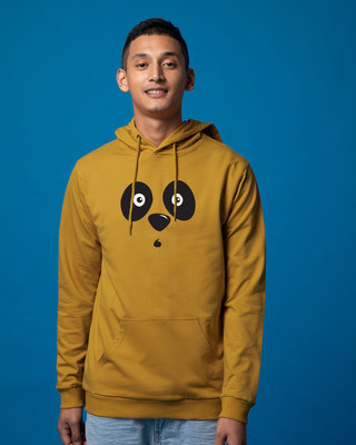 Shop Shocked Panda Fleece Hoodies-Front