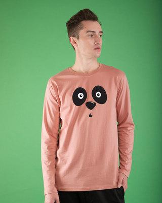 Shop Shocked Panda Full Sleeve T-Shirt-Front