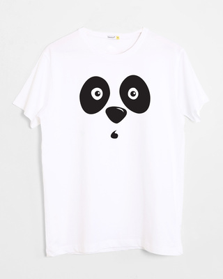 Shop Shocked Panda Half Sleeve T-Shirt-Front