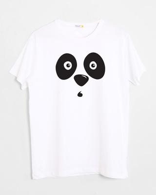 Shop Shocked Panda Half Sleeve T-Shirt-Front