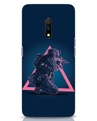 Shop Shooting Gamer Realme X Mobile Cover-Front