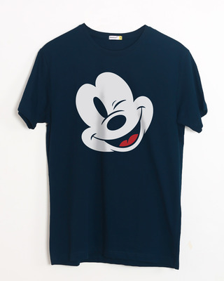 Shop Sideways Mickey Half Sleeve T-Shirt (DL)-Front