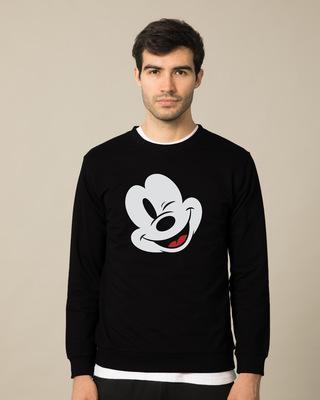 Shop Sideways Mickey Sweatshirt (DL)-Front