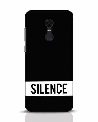 Shop Silence Xiaomi Redmi Note 5 Mobile Cover-Front