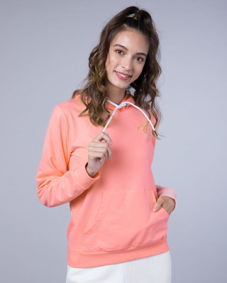 Shop Silver Pink Fleece Hoodies-Front