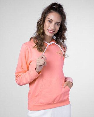 Shop Silver Pink Fleece Hoodies-Front