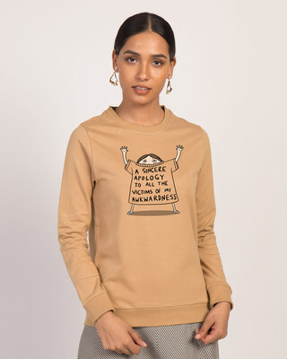 Shop Sincere Apology Fleece Sweaters-Front