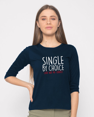 Shop Single By Choice Round Neck 3/4th Sleeve T-Shirt-Front