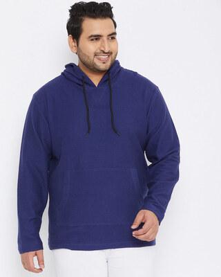 Shop Instafab Plus Size Men Stylish Solid Full Sleeve Casual Sweatshirt-Front