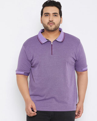 Shop Instafab Plus Size Men Stylish Solid Half Sleeve Casual T-Shirts-Front