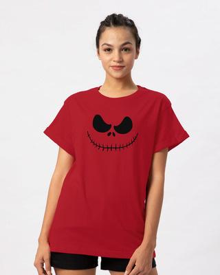 Shop Skellington Boyfriend T-Shirt-Front