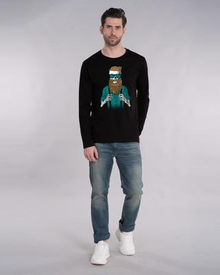 Shop Skull Beard Full Sleeve T-Shirt-Front