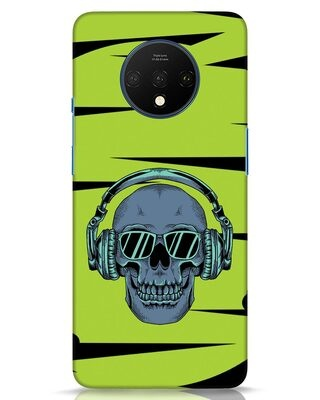 Shop Skull Headphone Neon OnePlus 7T Mobile Cover-Front