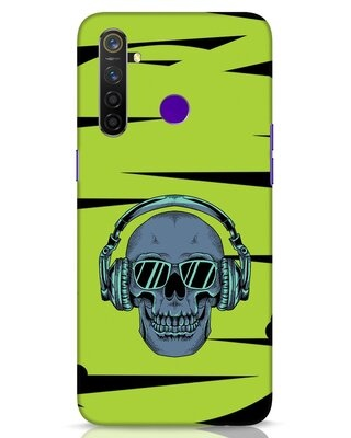 Shop Skull Headphone Neon Realme 5 Pro Mobile Cover-Front