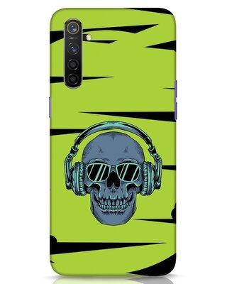 Shop Skull Headphone Neon Realme 6 Mobile Cover-Front