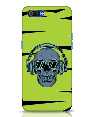 Shop Skull Headphone Neon Realme C2 Mobile Cover-Front