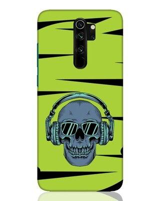 Shop Skull Headphone Neon Xiaomi Redmi Note 8 Pro Mobile Cover-Front