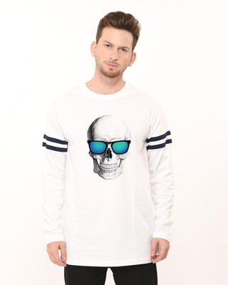 Skull Reflectors Sports Trim Longline T-Shirt