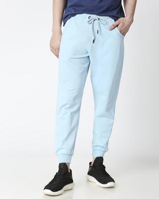 Shop Sky Blue Casual Jogger Pant-Front
