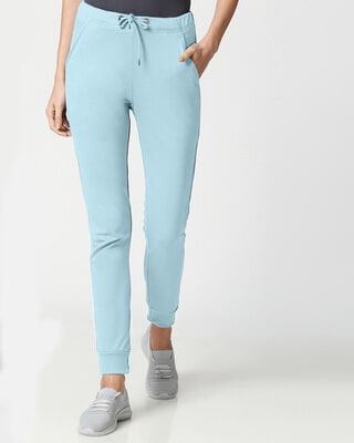Shop Sky Blue Casual Jogger Pants-Front