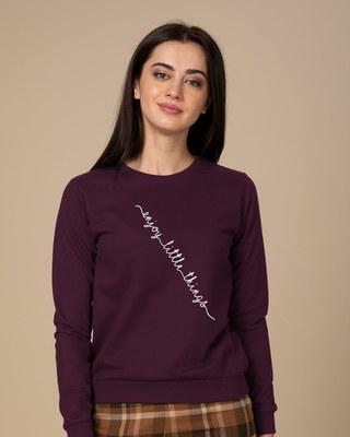 Shop Slant Enjoy Little Things Sweatshirt-Front
