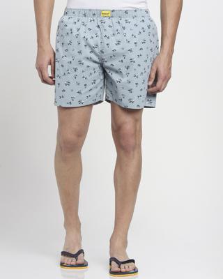 Shop Slate Grey AOP Floral Print B Boxerss-Front