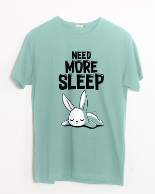 Shop Sleep Bunny Half Sleeve T-Shirt-Front