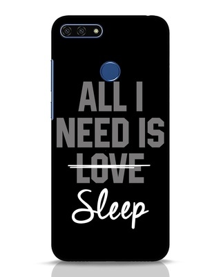 Shop Sleep Huawei Honor 7A Mobile Cover-Front