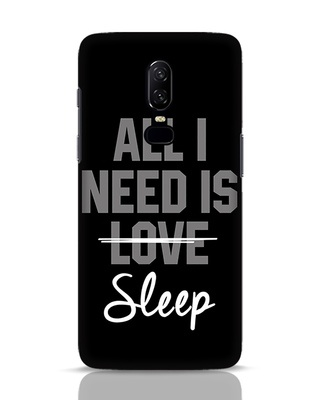 Shop Sleep OnePlus 6 Mobile Cover-Front