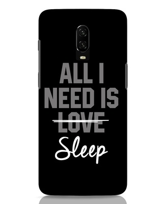 Shop Sleep OnePlus 6T Mobile Cover-Front